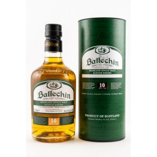 Ballechin 10 Jahre Edradur Highland Single Malt Scotch Whisky