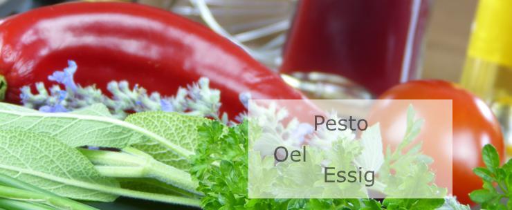 Pesto Oel Essig Dip für Salate